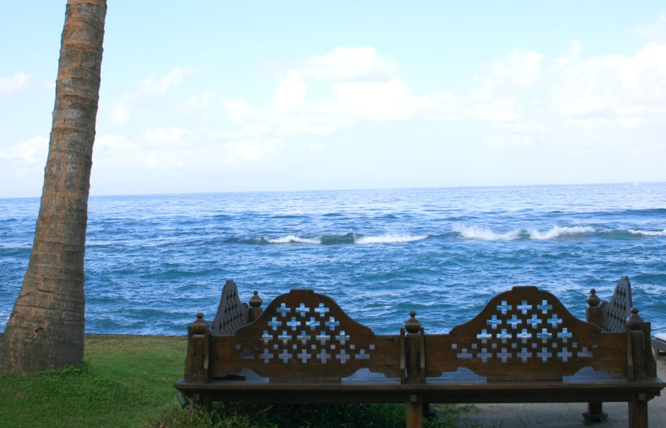 Bench by the ocean