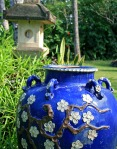 Blue urn