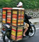 Egg crates on scooter