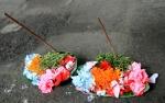 Flower offering still intact