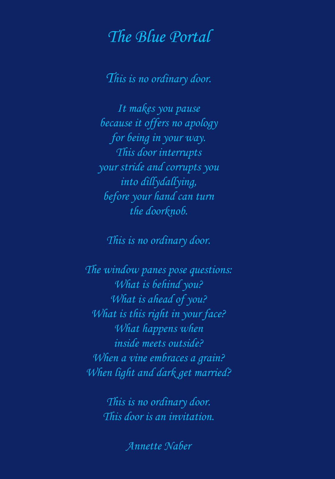 Blue Poems 18