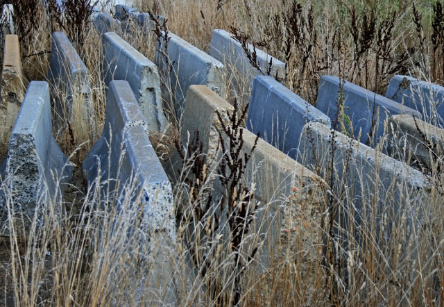 Cement barricades