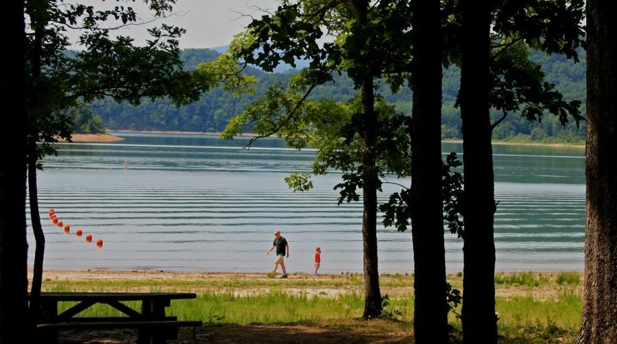 Ripples on Lake Moomaw