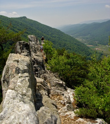 Top of Seneca Rocks, West Virginia