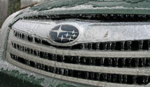 Subaru on ice