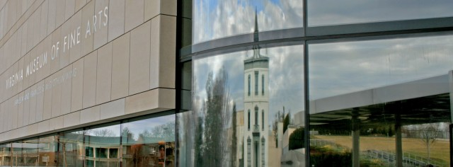 window reflections at VMFA