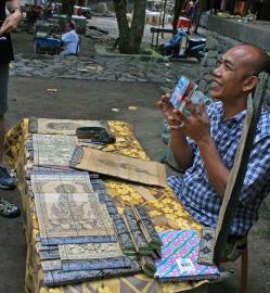 calligraphy artist at Tenganan