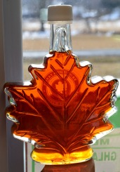syrup in maple bottle
