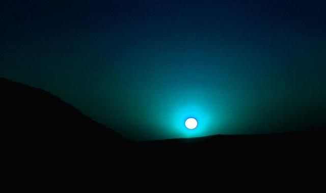 Blue moon glow