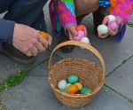 counting easter eggs