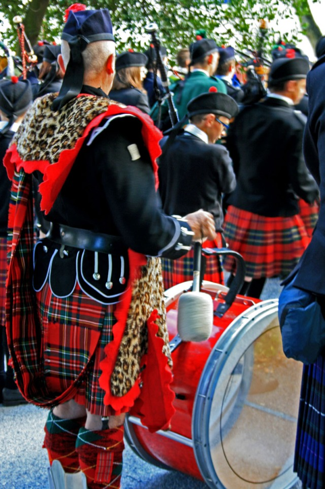 Drummer in leopard print