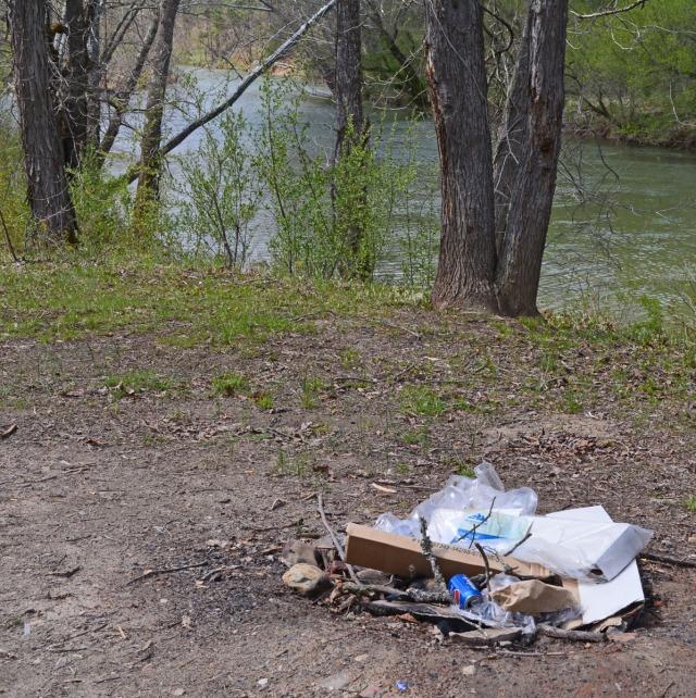 trash left behind
