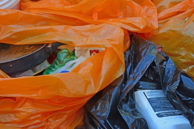 trashbag close-up