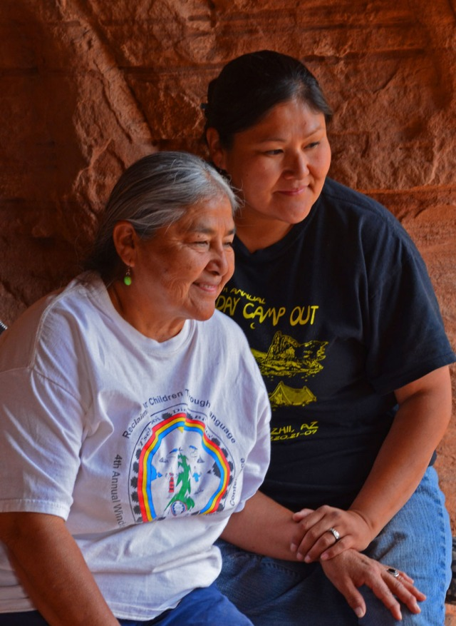Lupita with her daughter Kris