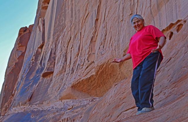 Lupita as trail guide