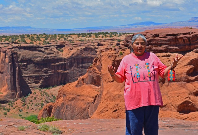 Lupita on the Canyon rim