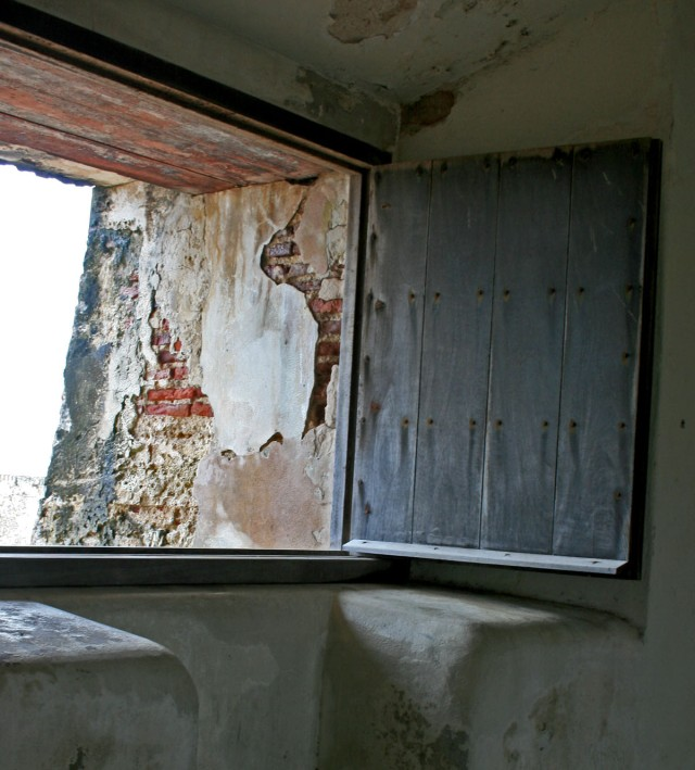 Old fort window, Puerto Rico