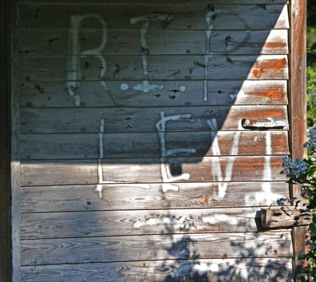 Graffiti on outside wall