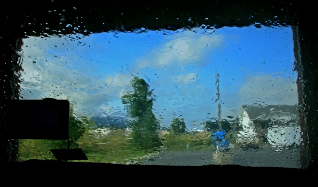 Windshield durig carwash