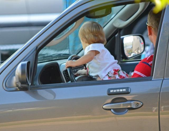 Baby at the wheel