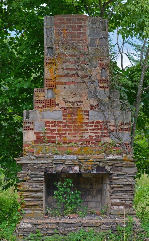 chimney in the field