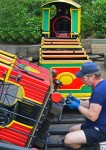 fixing a toy train