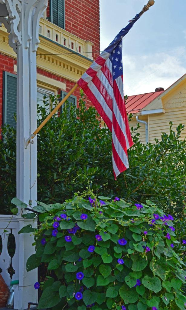 flag and Grandpa Ott