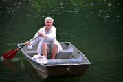 rowing a boat