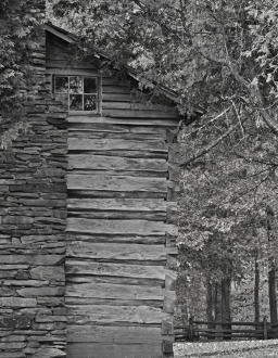 cabin chimney-side