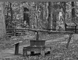 horse-powered bark mill