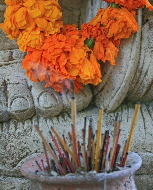 Incense at foot of Ganesh statue