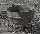 large iron kettle