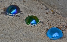 marbles in cement