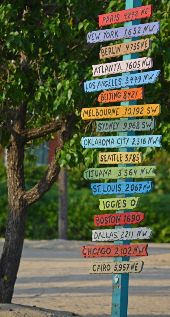 Cities of the world signpost
