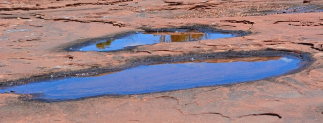 large rock puddles