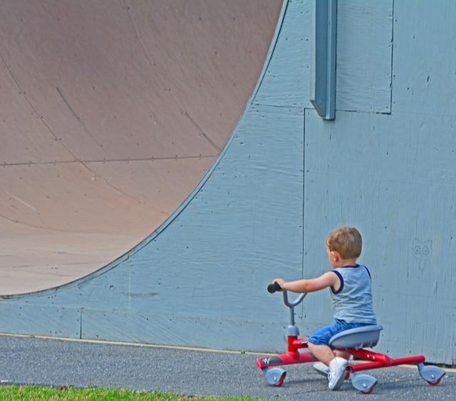 little boy alone
