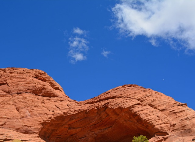 red rock and blue sky
