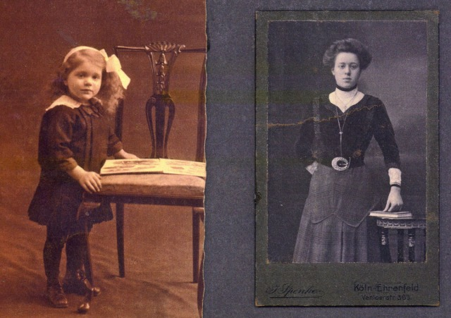 My grandmother as a child and my great-grandmother
