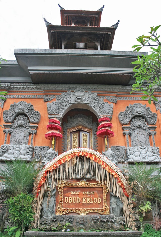 Colorful temple door