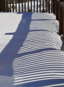 railing shadows