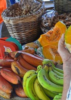 Bananas and pumpkin
