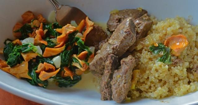 quinoa and mushroom dinner