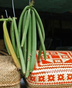 vanilla beans and baskets